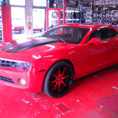 Chevy Camaro Red Wheels