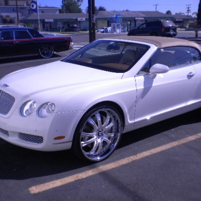 White Bentley Continental Side View