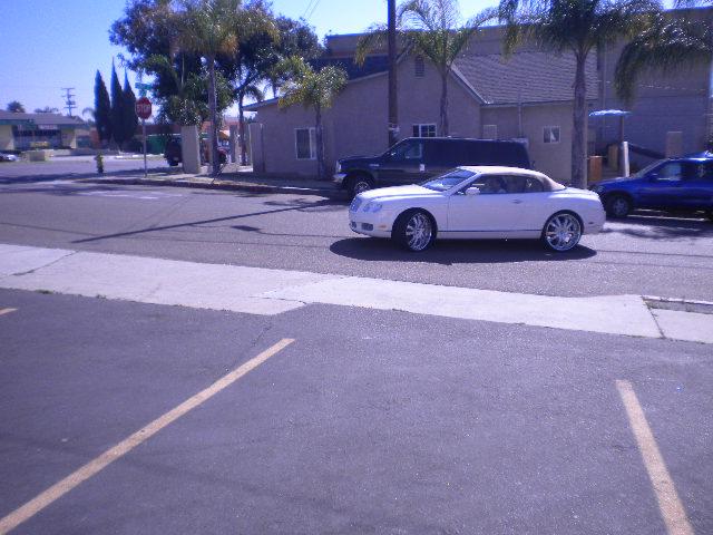 bentley continental gt convertible w   custom wheels