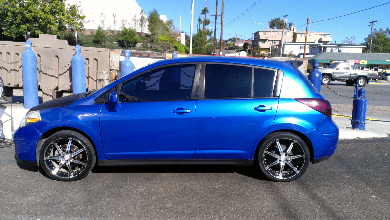 nissan versa with treo subwoofers