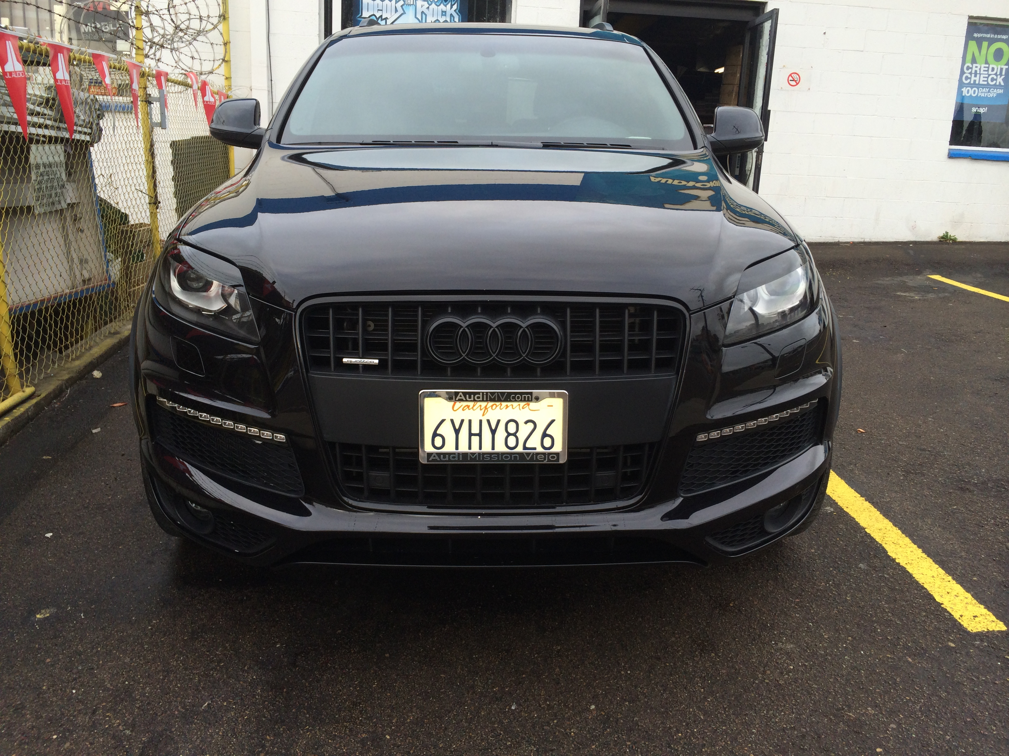 Joes Auto Repair >> Audi Q7 blacked out | Joe's Stereo