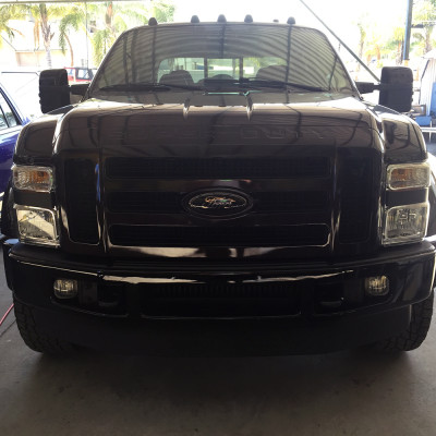Ford F350 Custom Black Grille