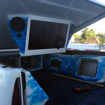 Custom stereo system with Kicker subs